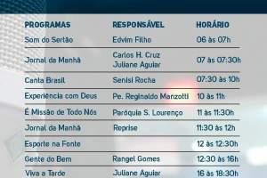 Rádio Fonte de Vida FM 106,5 lança nova programação