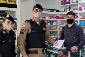Polícia Militar desenvolve ações em apoio à campanha do CNJ 'Sinal vermelho contra a violência doméstica'