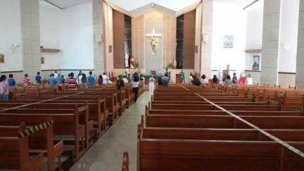 Paróquia do Bom Pastor divulga regras para retomadas de missas presenciais
