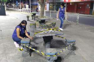 Prefeitura interdita praças da rodoviária e Trevo do Cafeicultor