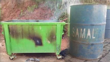 Lixeiras voltam a ser alvo de vandalismo e furto