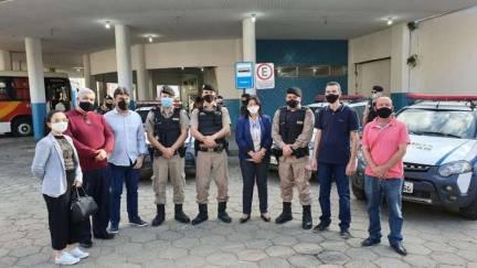 Policia Militar e Prefeitura de Manhuaçu inauguram ponto de apoio da PM no Terminal Rodoviário